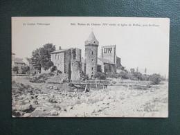CPA 15 PRES SAINT FLOUR EGLISE DE ROFFIAC RUINES CHATEAU - Saint Flour