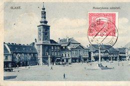 Tchéquie. CPA. SLANY.  Masarykovo Nämësti;  1920.  Scan Du Verso. - Tschechische Republik