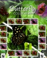 ISLE OF MAN - 2011  WWF BUTTERFLY COLLECTION  MS  MINT NH - Isola Di Man