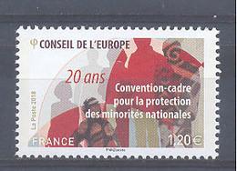 Año 2018 Nº 173 Consejo De Europa - Mint/Hinged