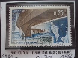 """à Partir De 1960 - Timbre Oblitéré N°1489      """"  Pont Oléron,1966     """"     0.30 - Oblitérés"""