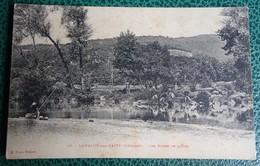 Cpa - 34 - Lamalou  Les Bains - Les Bords De L'orb - Pêcheurs - Lamalou Les Bains