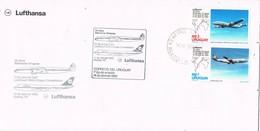 31704. Carta Aerea, 25 Anniversary First Flight URUGUAY- Germany 1982. Lufthansa - Uruguay