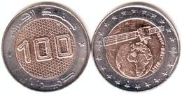 """Algerie - Pièce  De 100.00 DA  """"Satellite """" 2968 - 2018 -1440 """" (FDC Rouleaux De Banque). - Algeria"""