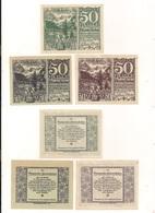 3 Notgeldscheine Hinterstoder  50, 50 + 50 H - Kilowaar - Bankbiljetten