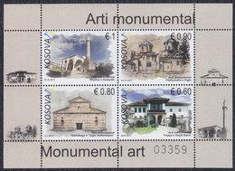 Kosovo 2017 Monuments, Block, MNH (**) Michel 395-398 Block 43 - Kosovo