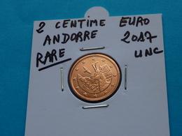 RARE ***  2  CENTIMES  EURO  ANDORRE  2017 Unc - Andorre