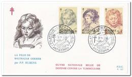 België 1963, FDC 127-128, Tuberculosis, Painting Of Peter Paul Rubens - FDC