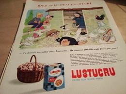 ANCIENNE PUBLICITE RIEZ AVEC BELLUS PATES LUSTUCRU 1965 - Affiches