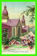 FLOWERS, FLEURS - TO WISH YOU MANY JOYS - EMBOSSÉE - - Fleurs