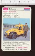 Voiture Automobile ANWB Citroën 2CV  IM126/41 - Vieux Papiers