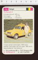 Voiture Automobile TS Renault 4  IM126/41 - Vieux Papiers