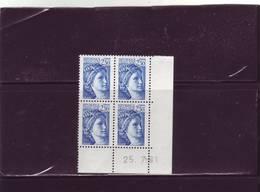 N° 2156 - 2,30F Sabine De GANDON - Tirage Du 20.7.81 Au 4.8.81 - 25.07.1981 - - Angoli Datati