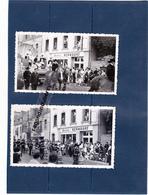 PHOTO - 29 - CONCARNEAU - Fête Des Filets Bleus Défilé Devant Magasins PHILIPPS Et MEUBLES KERNOUAT Char De La Reine 195 - Lieux