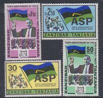 Zanzibar Etat Indépendant : N° 345 / 48 X  La Série Les 4 Valeurs Trace De Charnière Sinon TB - Zanzibar (1963-1968)