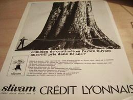 ANCIENNE  PUBLICITE L ARBRE SLIVAM ET  BANQUE CREDIT LYONNAIS  1965 - Affiches
