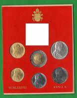 Serie 1988 Papa Wojtyla Giovanni Paolo II° Anno X° Vaticano Vatikan State Divisionale Con 1000 Lire Argento - Vaticano