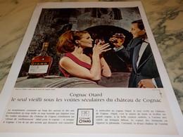 ANCIENNE PUBLICITE COGNAC BARON OTARD  1965 - Alcools