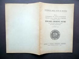 Conferimento Titolo Professore Onorario Storia Della Medicina Hume Modena 1945 - Vecchi Documenti