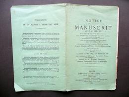 Notice D'un Precieux Manuscrit Autographe Maria Stuart Catalogo Asta Parigi 1869 - Vecchi Documenti