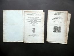 2 Opuscoli Castelnuovo Di Garfagnana Fontana Versi Sciolti Canzone 1836 1840 - Vecchi Documenti