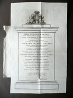 Johannis Mariae Josephi Regii Principis Brasiliae Incisione Blasone Stemma 1789 - Vecchi Documenti