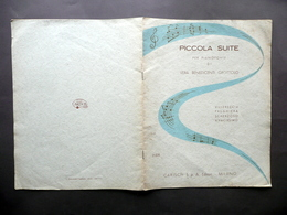 Spartito Piccola Suite Pianoforte Vera Benedicenti Grottolo Carisch 1957 Dedica - Vecchi Documenti