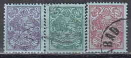IRAN 1907 - MiNr: 233 - 238  Lot 3x   Used - Iran