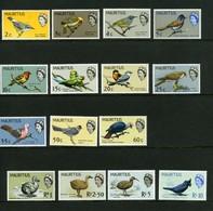 1965/1967 Mauritius Birds 15 Val. MNH - Cat. Yvert N. 266/80 - Mauritius (1968-...)
