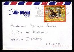 NOUVELLE CALEDONIE Lettre Cover 100F Année Du Cheval An Chinois Flamme NOUMEA 16-3-2002 + Dos TB - Neukaledonien
