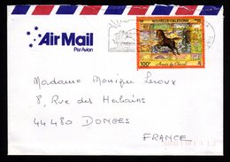 NOUVELLE CALEDONIE Lettre Cover 100F Année Du Cheval An Chinois Flamme NOUMEA 16-3-2002 + Dos TB - Briefe U. Dokumente
