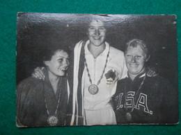 Olympiade Rome 1960  Chromo Suanet Merksem  Swimming  100m  Dawn Fraser, Natalie Stewart En Chris Von Saltza - Trading Cards