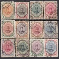 IRAN 1911 - MiNr: 304 - 324  Lot 12x Used - Iran