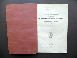 Sopra Il Dipinto Del Prof. Bezzuoli Terremoto Di Borgo S. Lorenzo Firenze 1837 - Vecchi Documenti