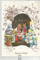 Joyeux Noël. Enfants Musiciens Et Jésus Dans Un Panier. - Noël