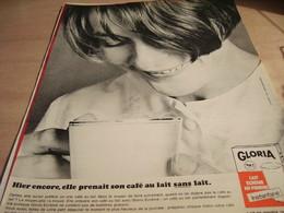 ANCIENNE AFFICHE  PUBLICITE  LAIT  GLORIA 1965 - Affiches