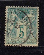 1876 - FRANCIA - Cat. Yvert E Tellier N° 64 - 5 Cent . Verde - Usato - 1876-1878 Sage (Type I)