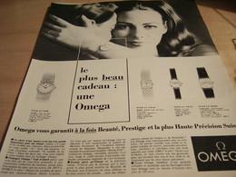 ANCIENNE PUBLICITE MONTRE OMEGA 1965 - Bijoux & Horlogerie