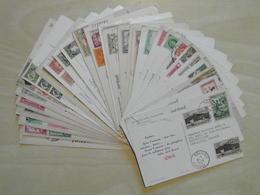 LOT De 32 CARTES PUBLICITAIRES (PAYS DIVERS) DES LABORATOIRES LA BIOMARINE (IONYL PLASMARINE ETC.) ENVOYÉES À DOCTEURS - Salute