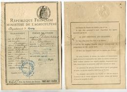 Département Du Gers - Permis De Chasse Daté De 1909 - Délivré à Condom  - Voir Scan - Unclassified