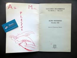Aldo Mondino Galleria De Ambrogi Milano 1983 Schizzo Originale Avanguardia Arte - Vecchi Documenti