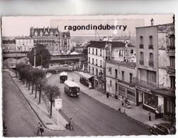 CPSM - 94 - NOGENT-LE PERREUX - Le Pont De Mulhouse Vers 1950 1960 - Autobus Et Commerces Divers Disparus - Nogent Sur Marne