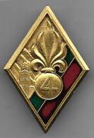 Légion - 4e R. E.I.  ( Velite ) - Insigne émaillé Drago Matriculé  456 - Armée De Terre