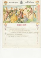 BELGIQUE -TELEGRAMME ILLUSTRE - 1952 - Telegraph