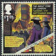 Royaume Uni 2016 Oblitéré Used Grand Incendie De Londres 1666 Destruction Cathédrale Saint Paul - 1952-.... (Elizabeth II)
