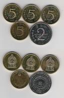 Sri Lanka  5 Rp. 06, 08, 5 Rp. 06 Adams Peak, 2 Rp. 12 100 Jahre Pfadfinder - Sri Lanka