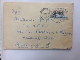 72 ICE SKATING STAMP ON COVER LETTER ROMANIA 1961 - 1948-.... Républiques