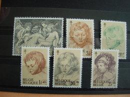 Belgique 1272/77** P.P. Rubens: Peinture. Antituberculeux - Unused Stamps