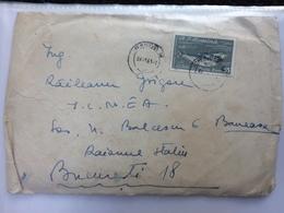 75 FISH SCRUMBII ALOSA PONTICA STAMP ON COVER ROMANIA ORSOVA 1961 - 1948-.... Républiques