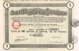 Titre Ancien - Société Financière Des Caoutchoucs - Titre De 1927 - Banque & Assurance